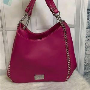 Bebe Colette Triple Entry Zip Handbag